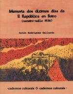 Memoria dos últimos días da II República en Boiro (xaneiro – xullo 1936)